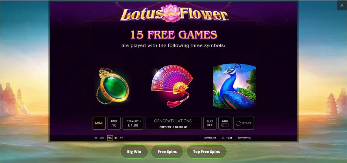 Lotus Flower free spins