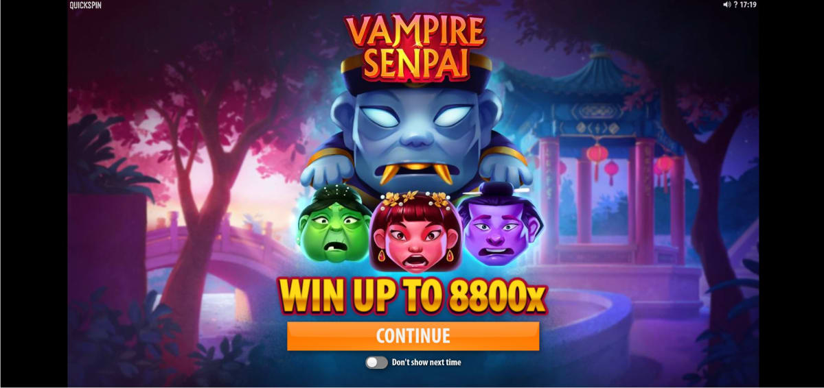 Vampire Senpai free spins