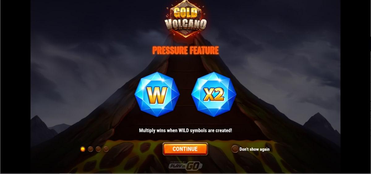 gold volcano reel splash