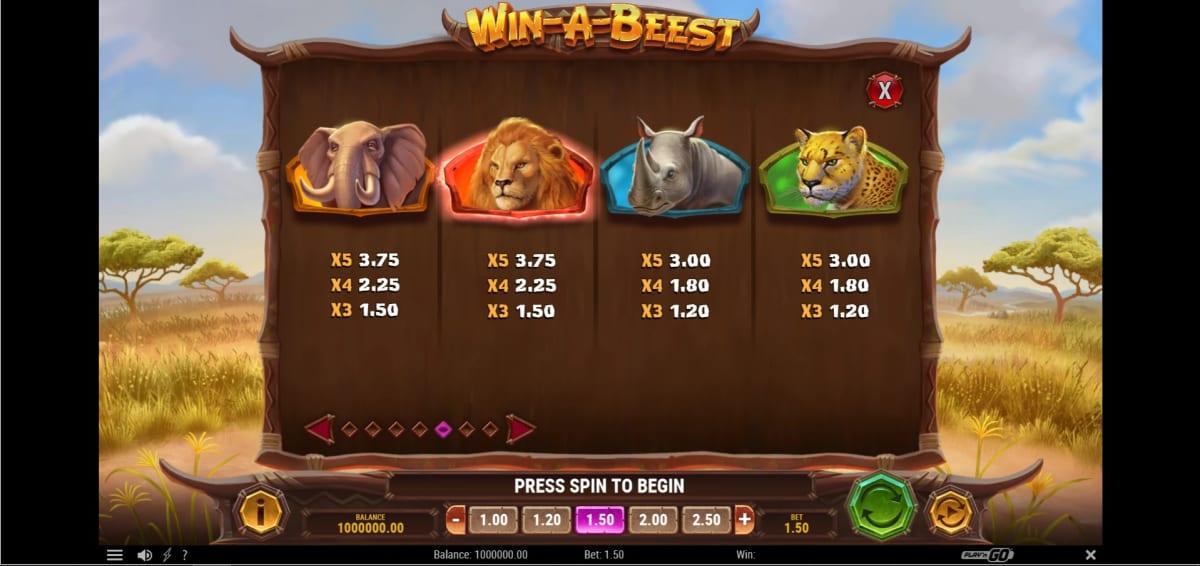 win-a-beest symbols