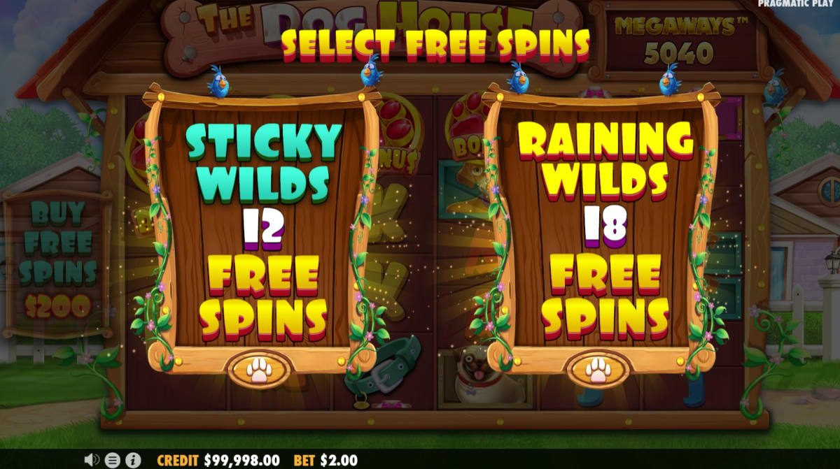 dog house megaways free spins