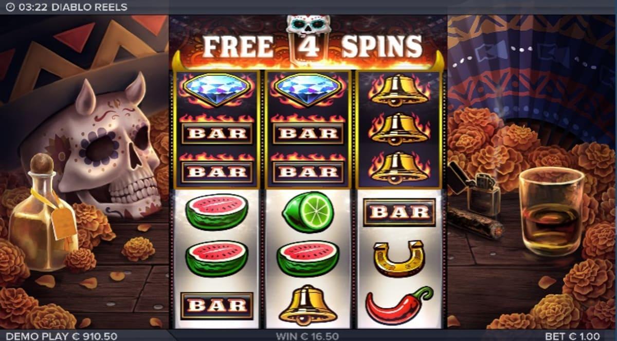 Diablo Reels free spins trigger