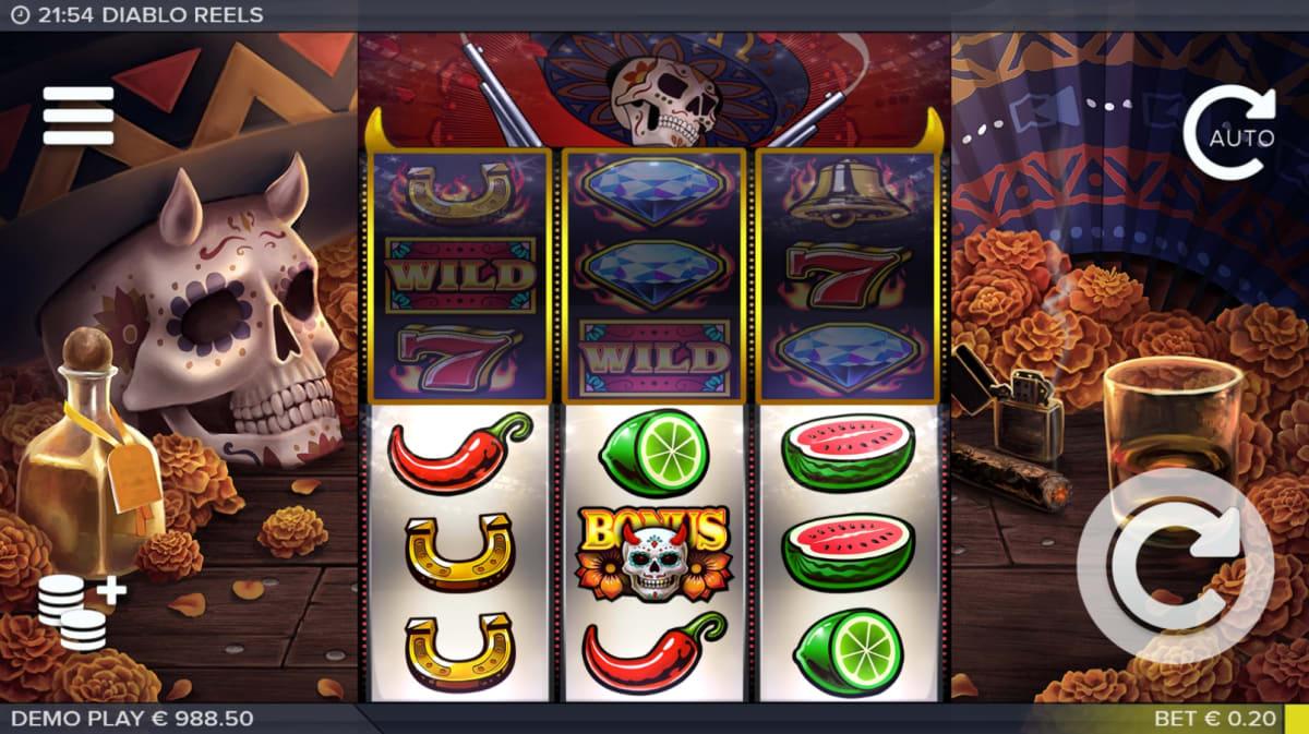 Diablo Reels main game reels