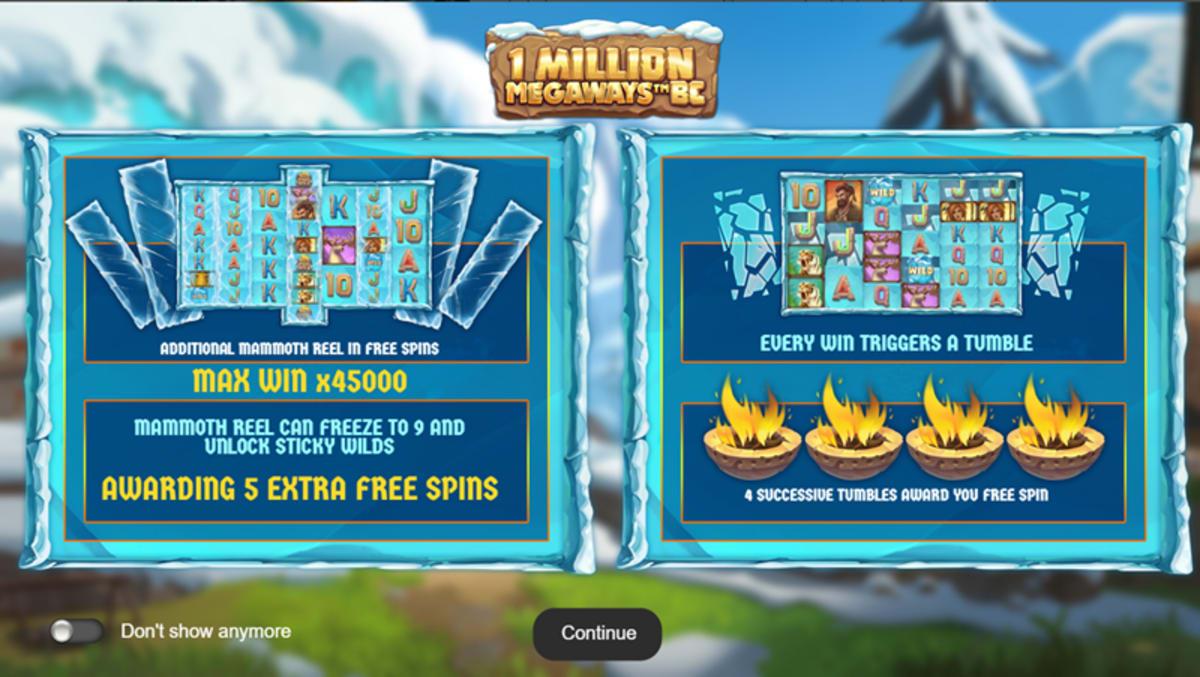 1 million megaways splash-screen