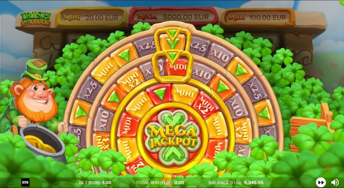 irish pot luck Jackpot Wheel