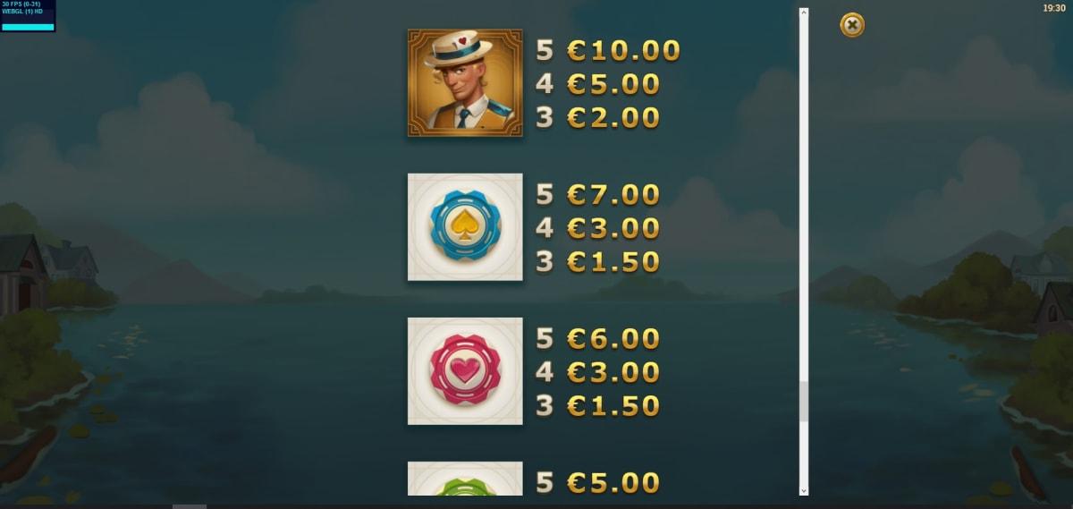 jackpot express paytable