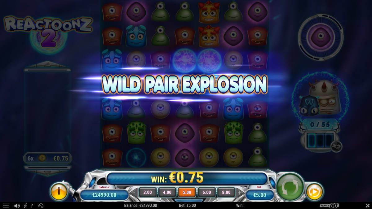 reactoonz 2 wild pair explosion