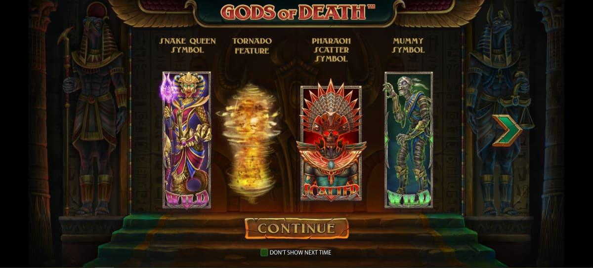gods of deaths splash screen