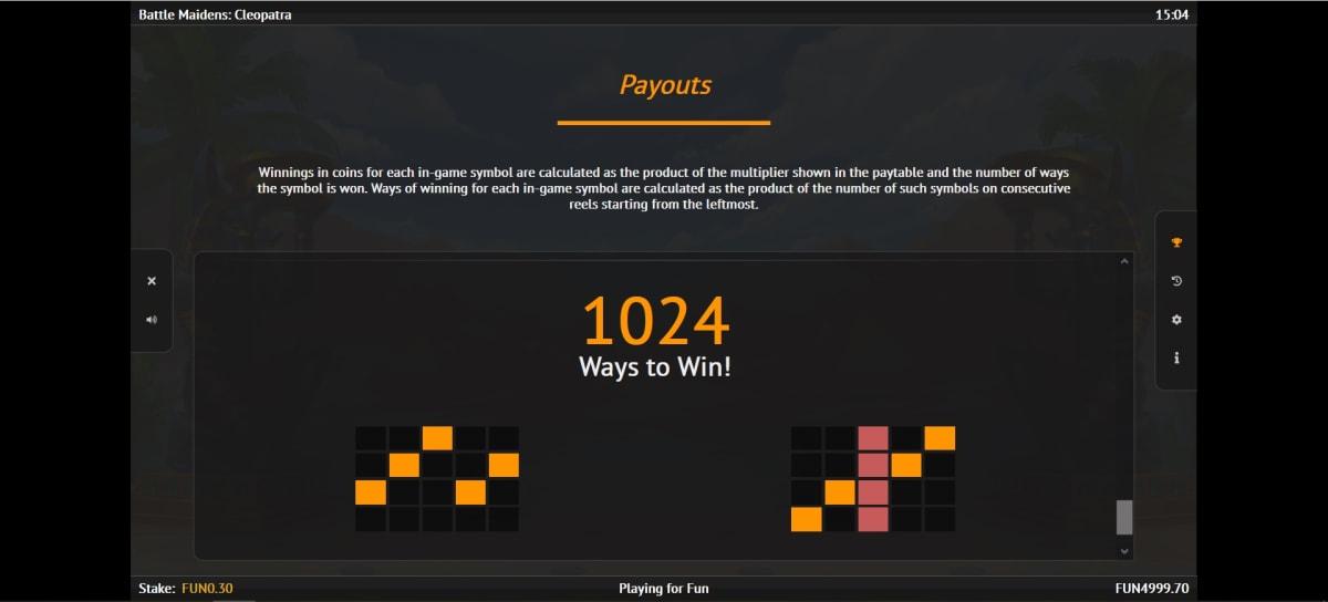 battle maiden paylines