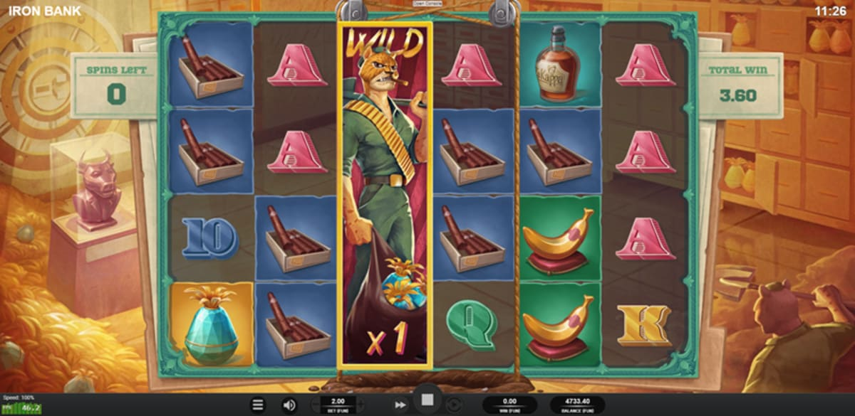 iron bank expanding wild free spins