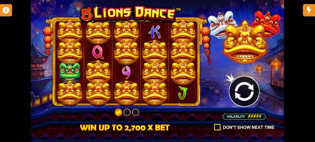 5 lions dance splash screen