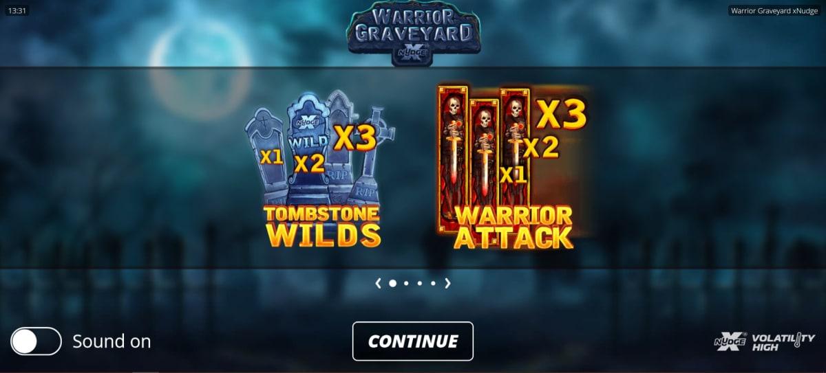warrior graveyard splash screen