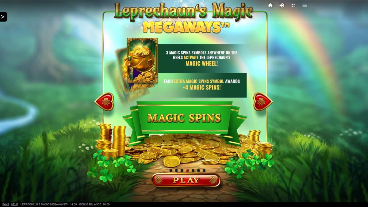 leprecahun magic mageways splash screen