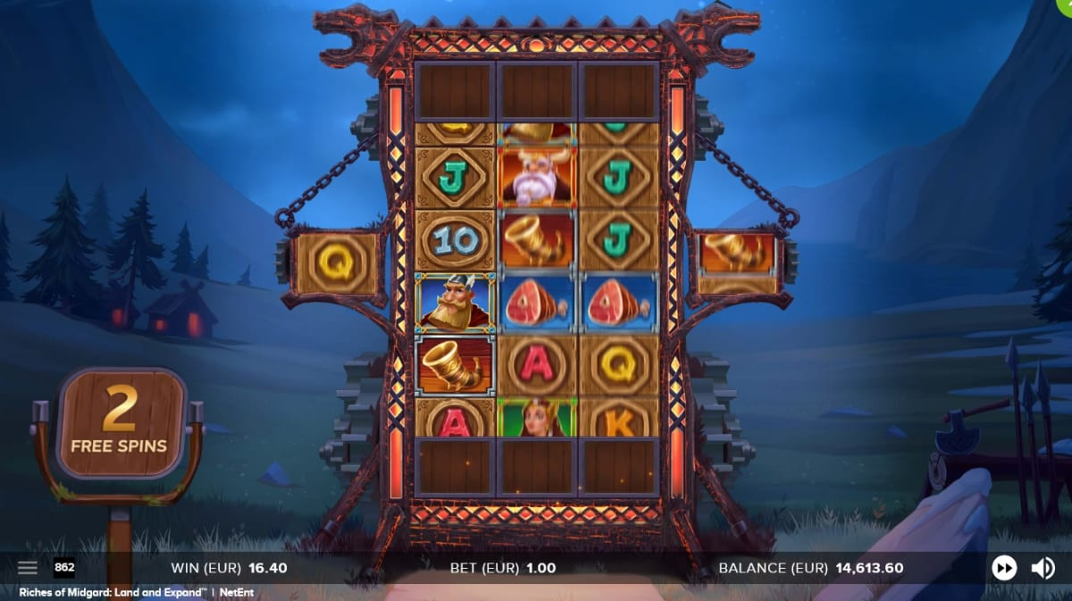 extended free spins board