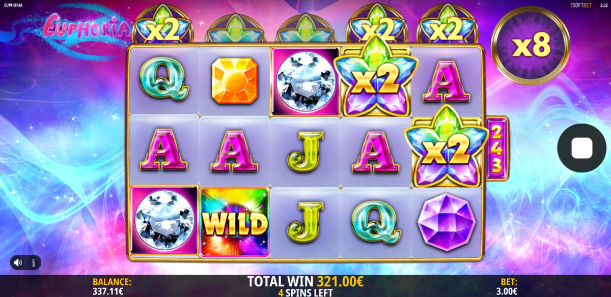 win with 8x multiplier