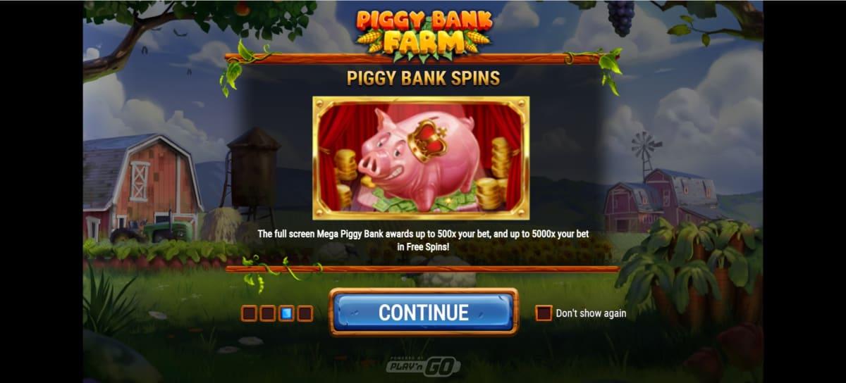piggy bank farm free spins