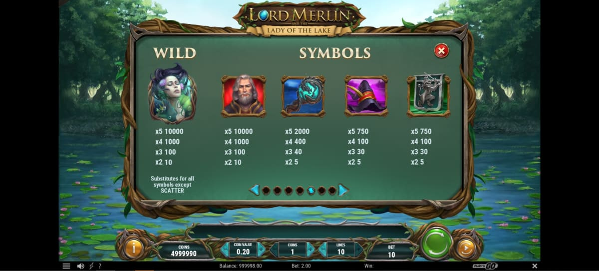 lord merlin symbols