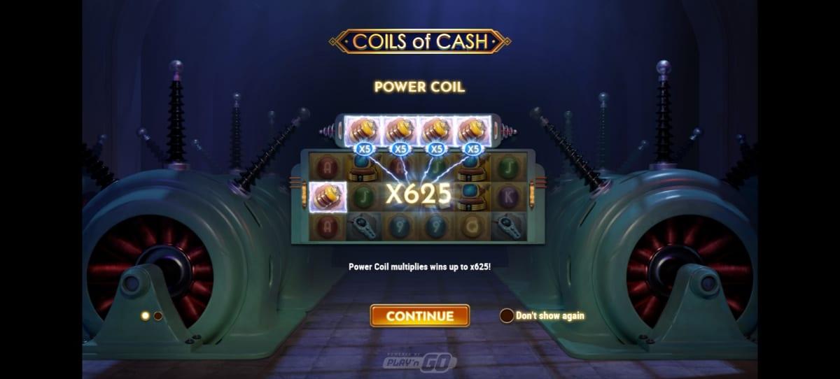 coils of cash splash screen