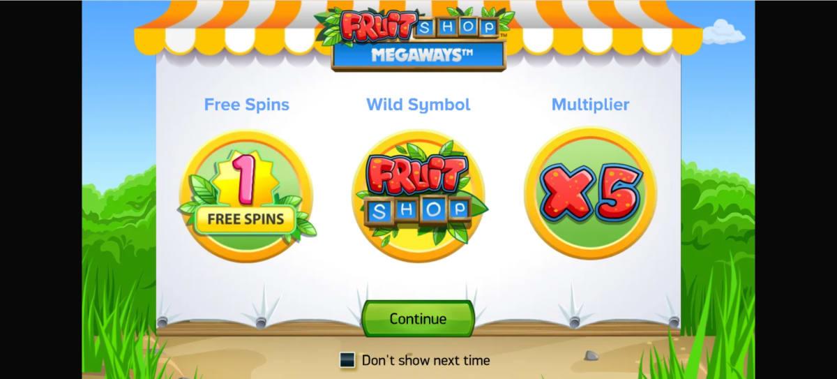 fruit shop megaways splash screen
