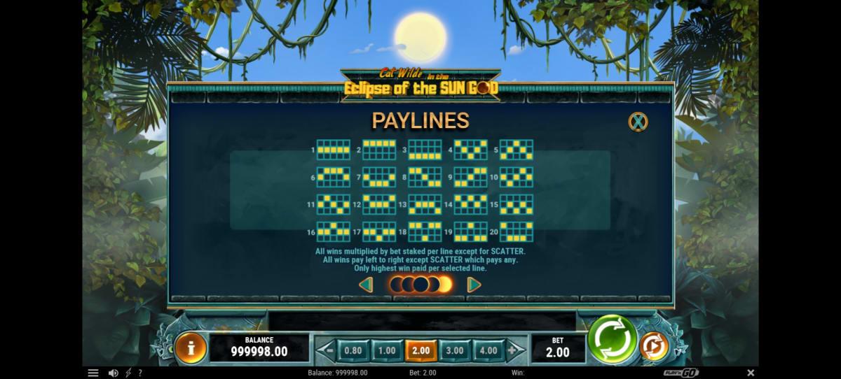 cat wilde paylines