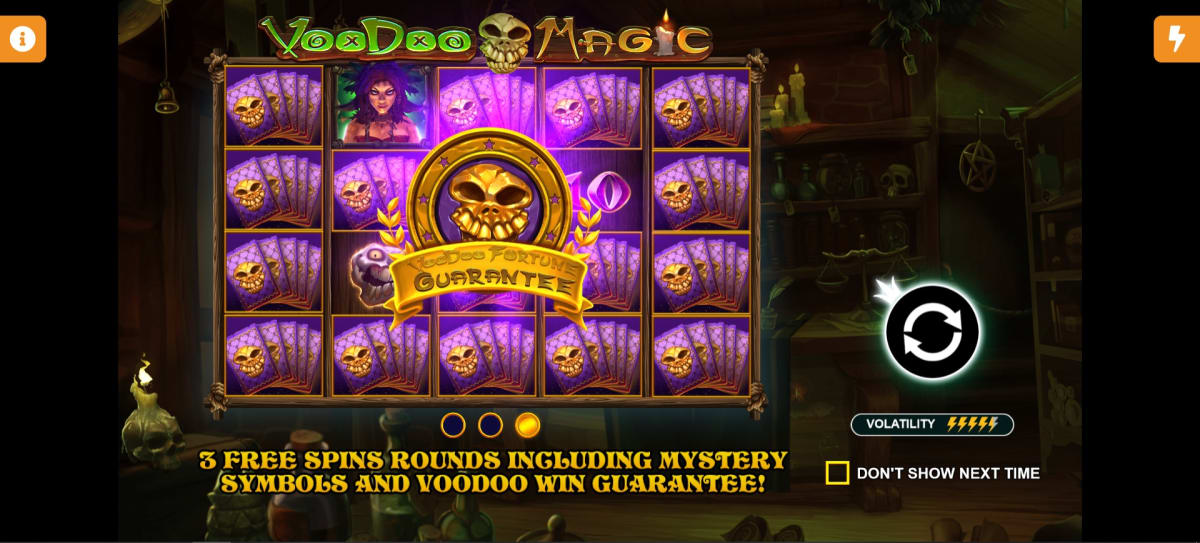 voodoo magic splash screen