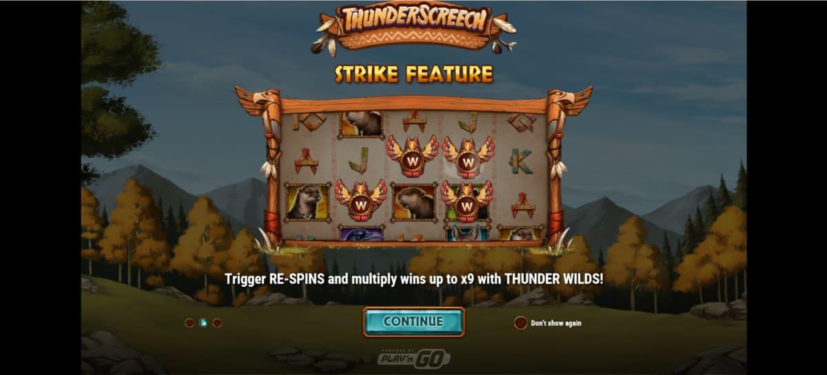 thunder screech splash screen