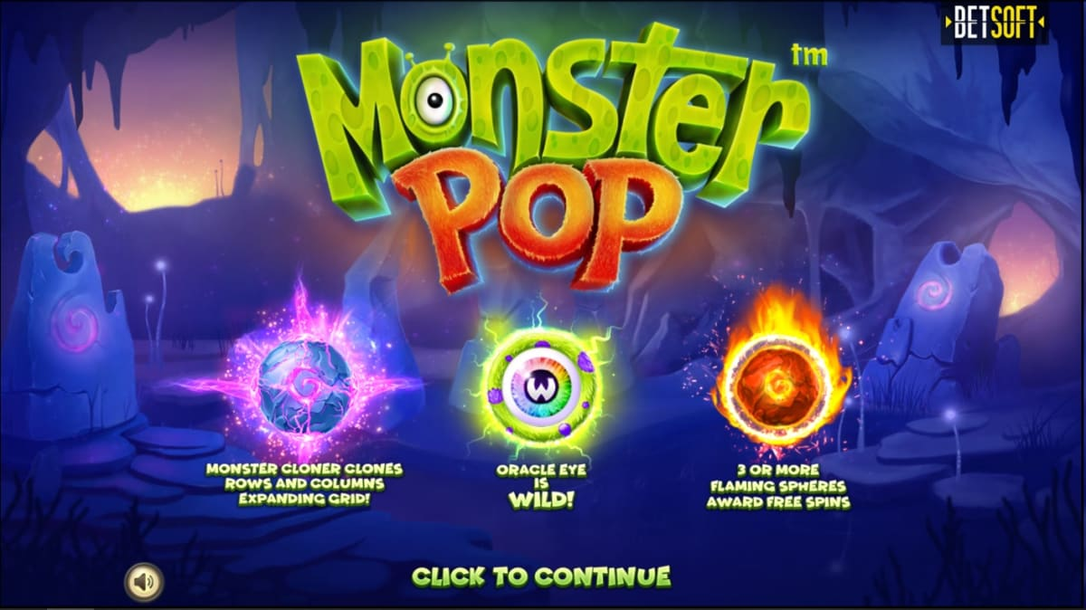monster pop splash screen