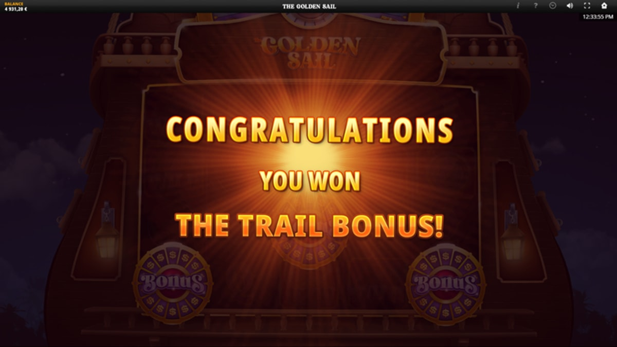 golden sail trial bonus triggered