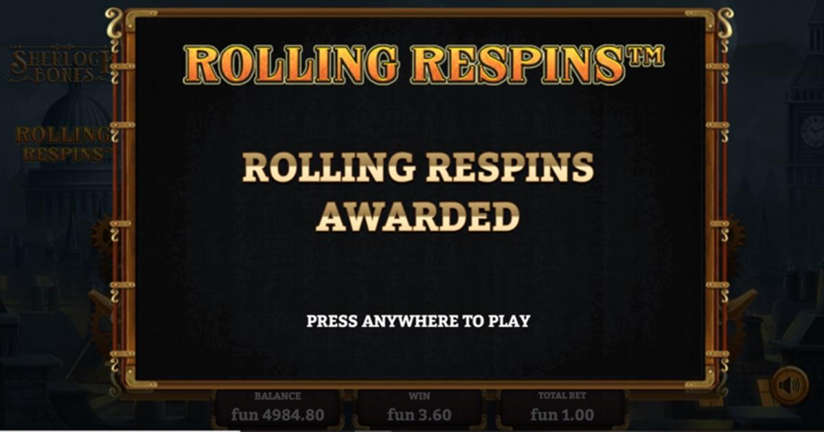 trigger rolling spins