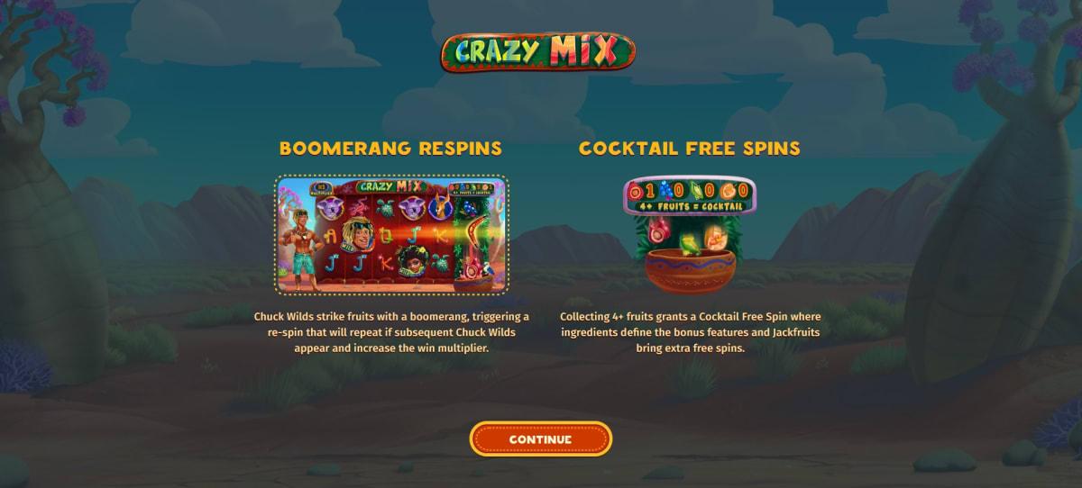 crazy mix splash screen