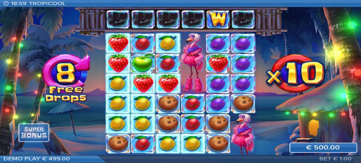 tropicool drop bonus feature