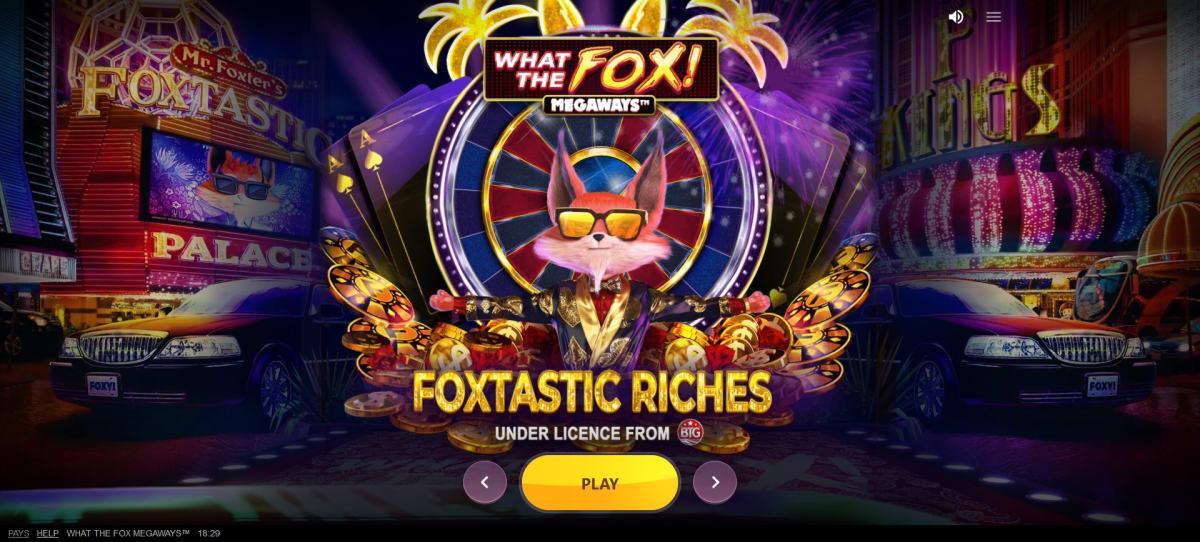what the fox megaways splashscreen