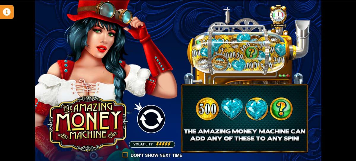 the amazing money machine splash screen