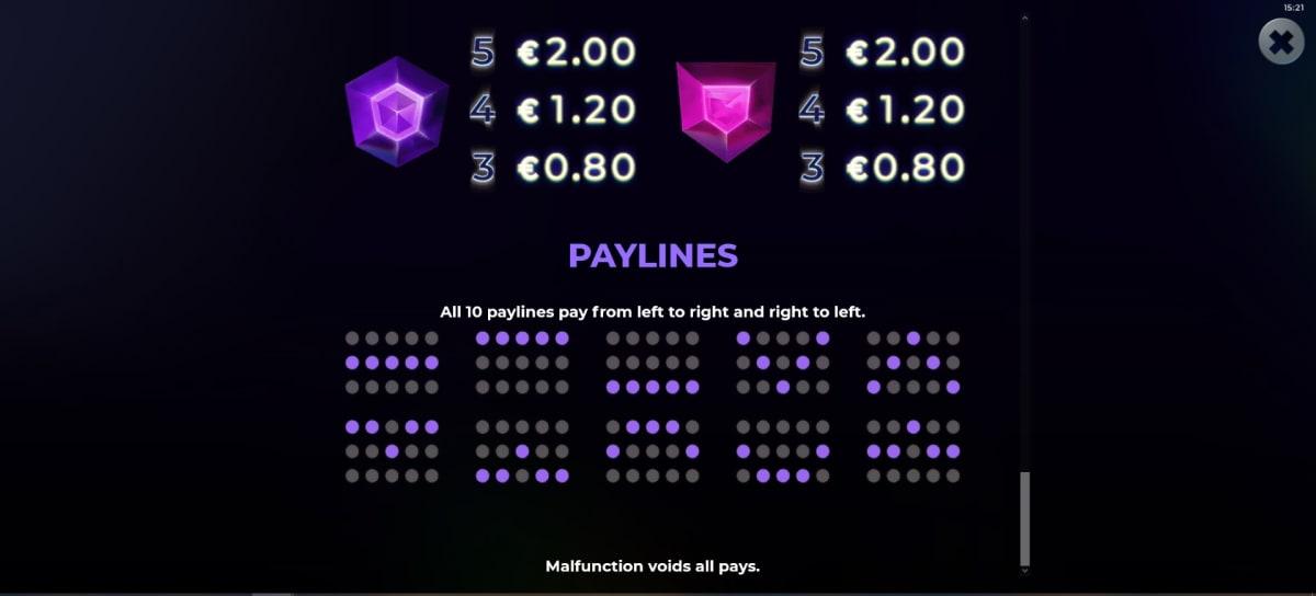 suncatcher paylines