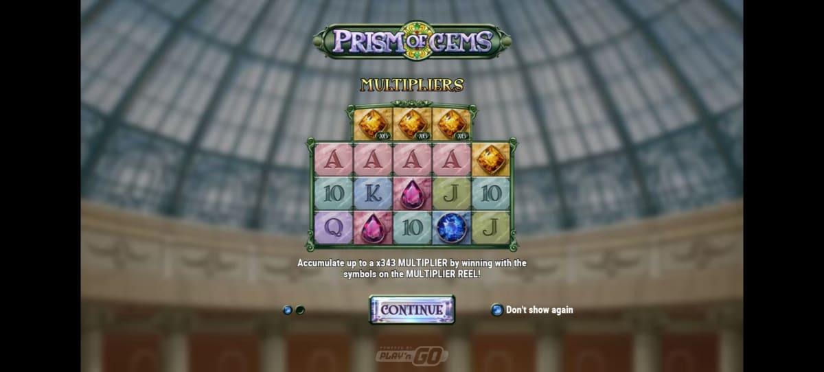 prism of gems splash screen