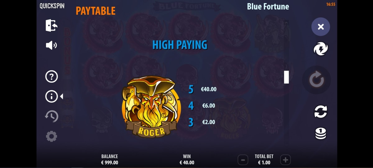 blue fortune paytable2
