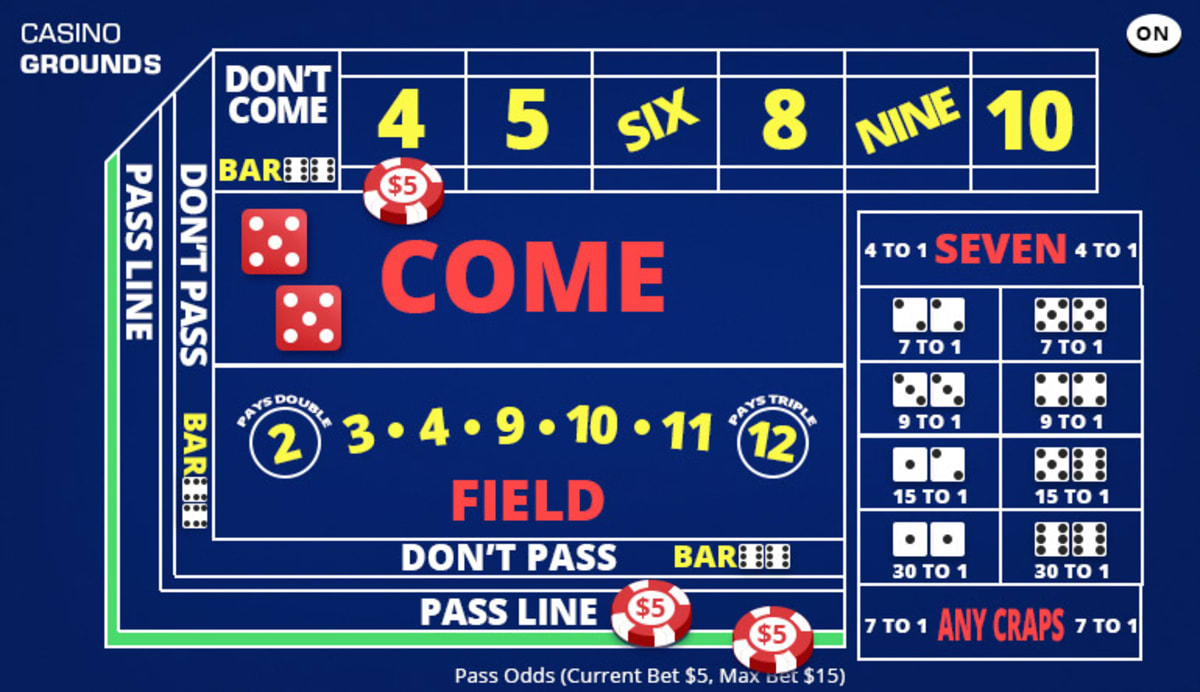 craps where to place odd bets
