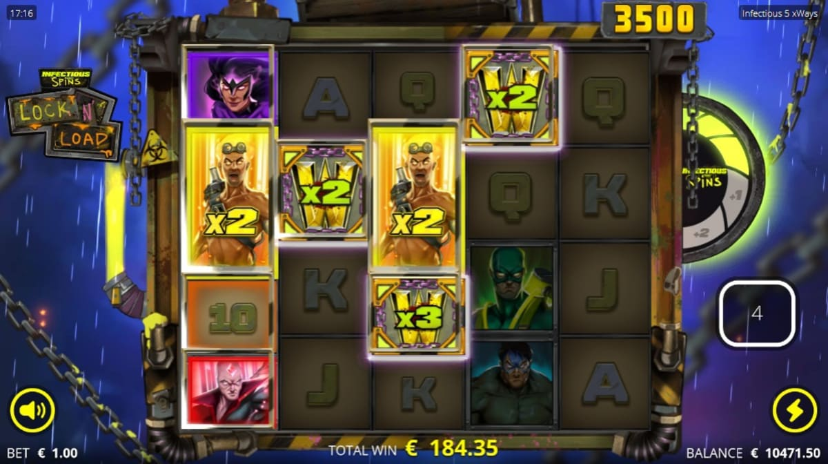 add infectious lock 'n load free spins big win pic