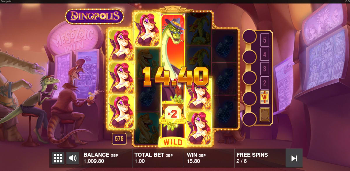 free spins sticky wild multiplier win