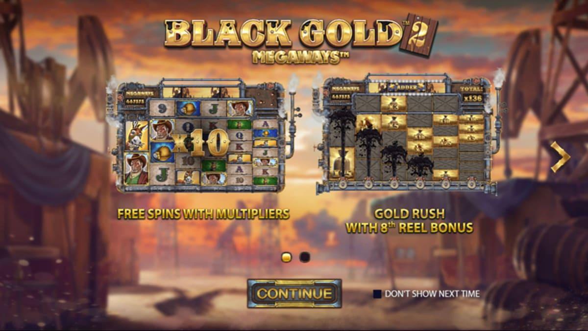 black gold megaways 2 splash screen
