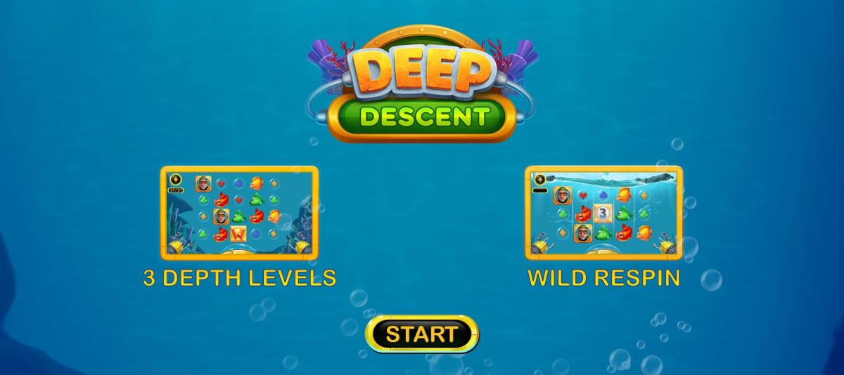 deep descent splash screen