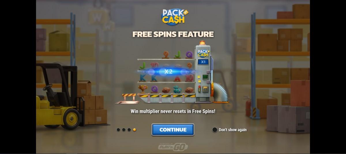 pack and cash splashscreen