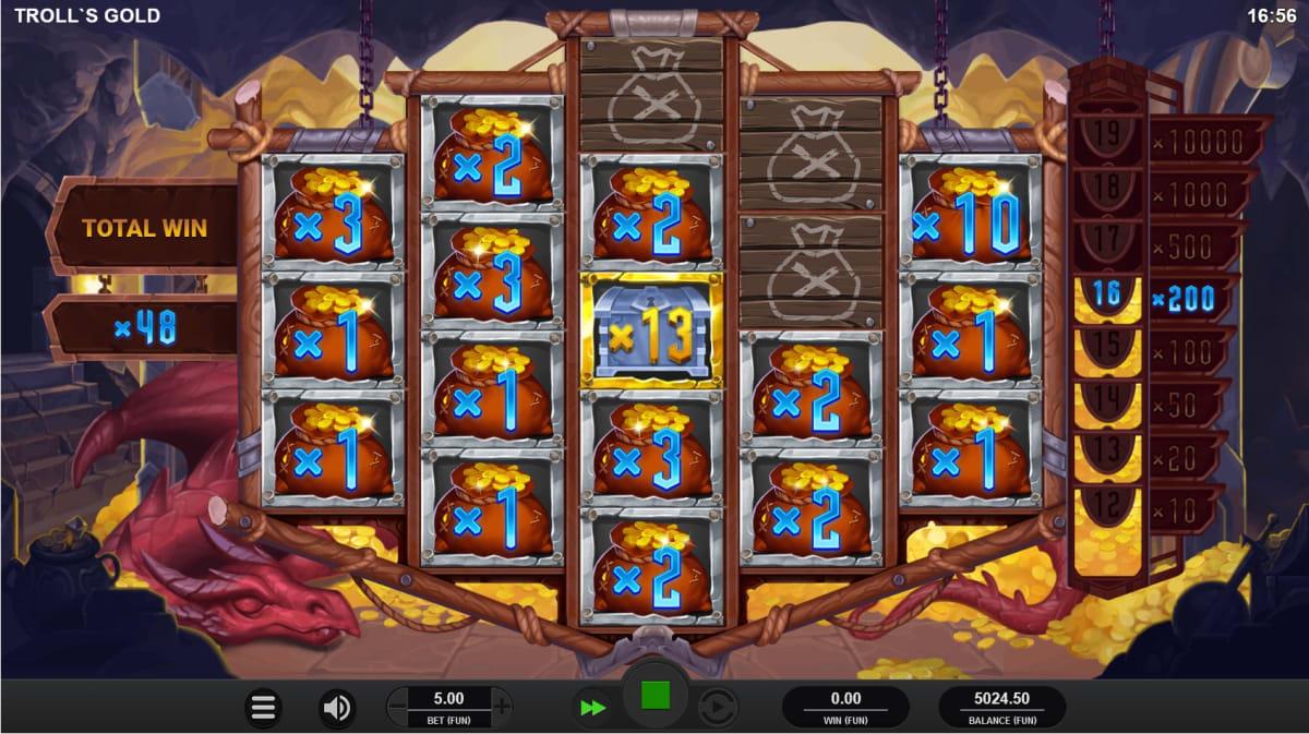 trolls gold treasure trove respins big win pic