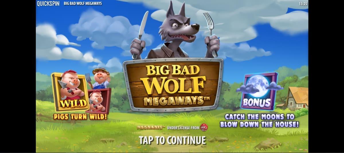 big bad wolf megaways splashscreen
