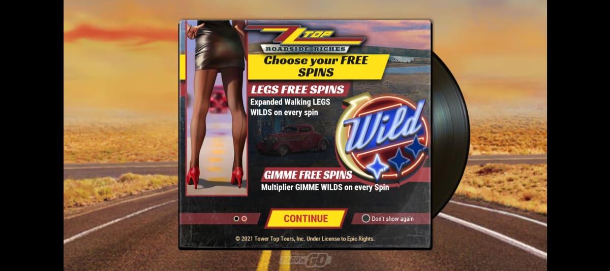 zz top roadside riches splashscreen