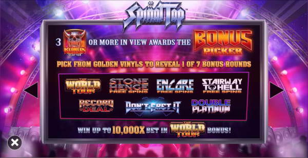 blueprint - spinal tap - bonus picker - casinogroundsdotcom