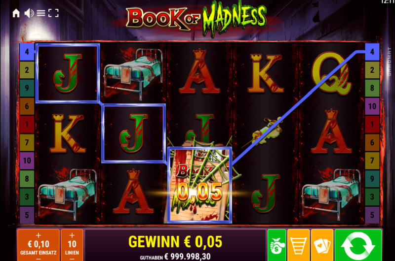 Book of Madness Slot Reels Main