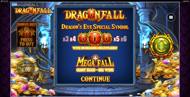 slots-dragon-fall-slot-blueprint-welcome-screen