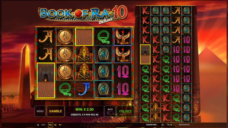 Book of Ra Deluxe 10 free spins trigger