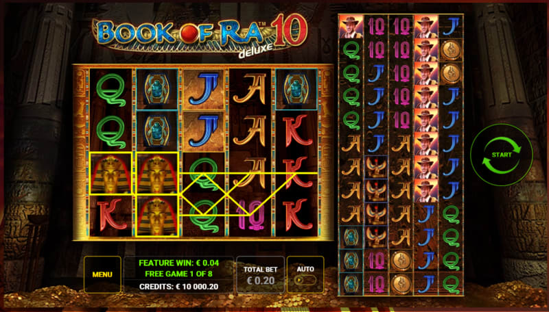 Book of Ra Deluxe 10 freespins round